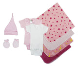 Essential Newborn Baby Girl 8 Piece Layette Set