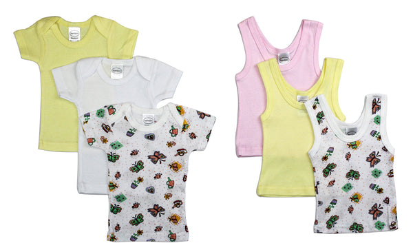 Baby Girl 6 Piece Layette Set