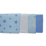 Baby Blue Four Pack Receiving Blanket