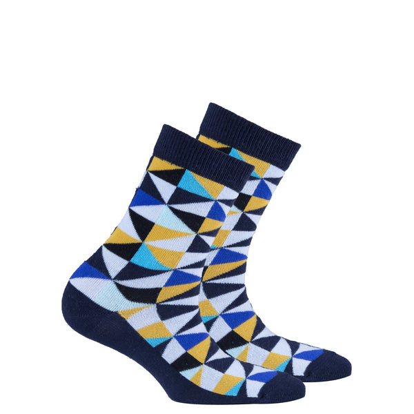 Kids Navy Triangle Socks