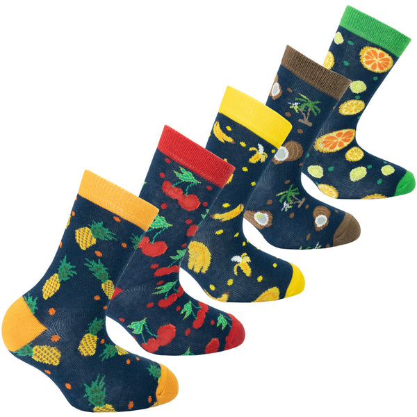 Kids Cheerful Fruits Socks
