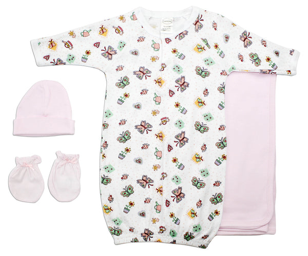 Baby Girl 4 Piece Layette Set