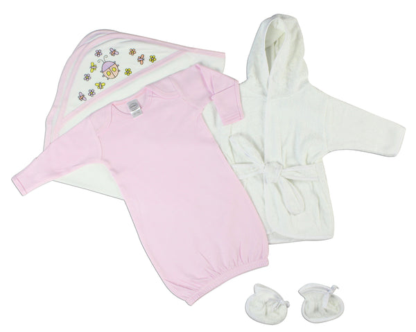 Baby Girl 3 Piece Layette Set