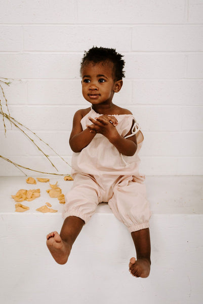 Baby Lucy Romper in Blush