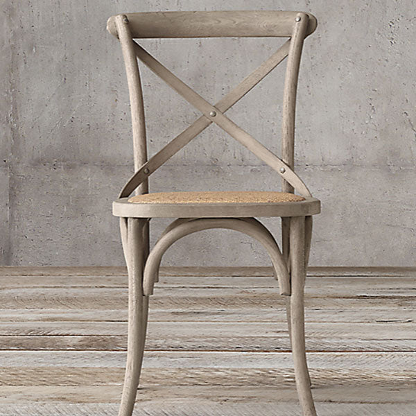 SILLA CROSBACK DE MADERA ROBLE COLOR GRIS