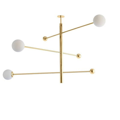 LAMPARA COLGANTE BRASS / WHITE GLASS