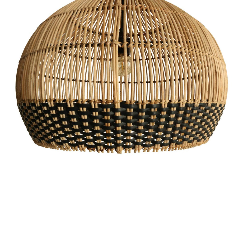 Lámpara Rattan Weave Natural Black L