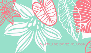 Asian Garden Personalized Cards