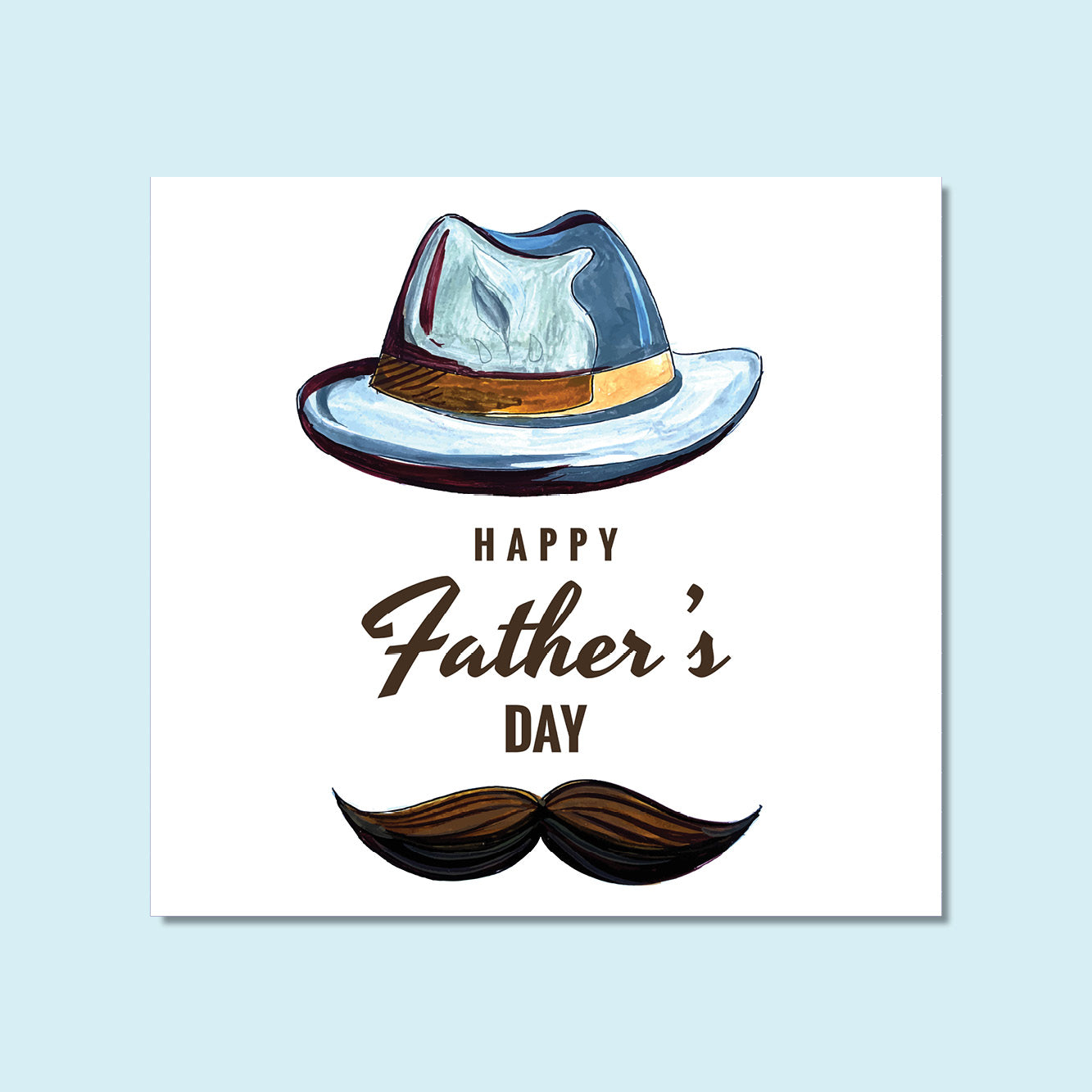 Father's Day - Watercolor Hat
