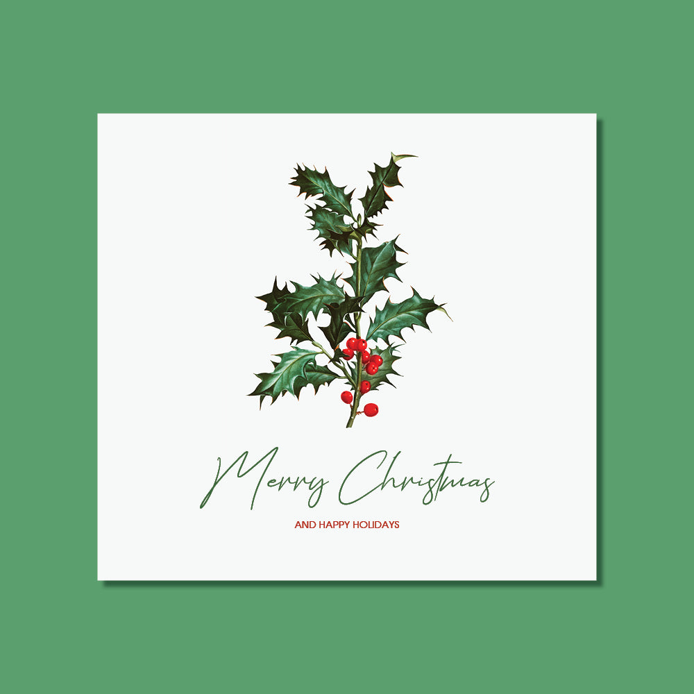 Christmas Card - Mistletoe Art