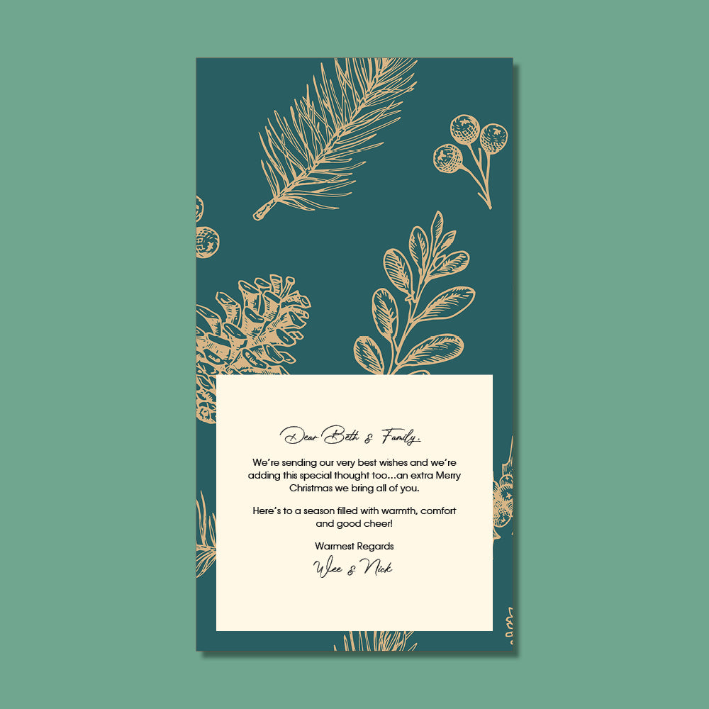 Christmas Card - Golden Christmas Weave