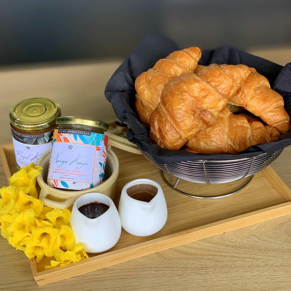 Croissant Breakfast Floating Tray Small