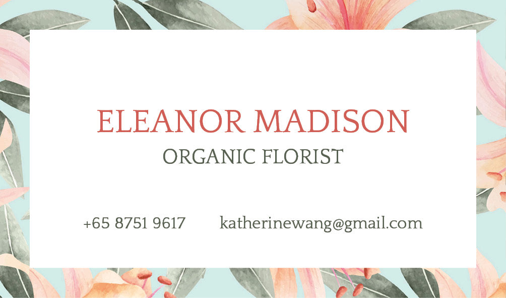 Eleanor Floral Personalized Cards
