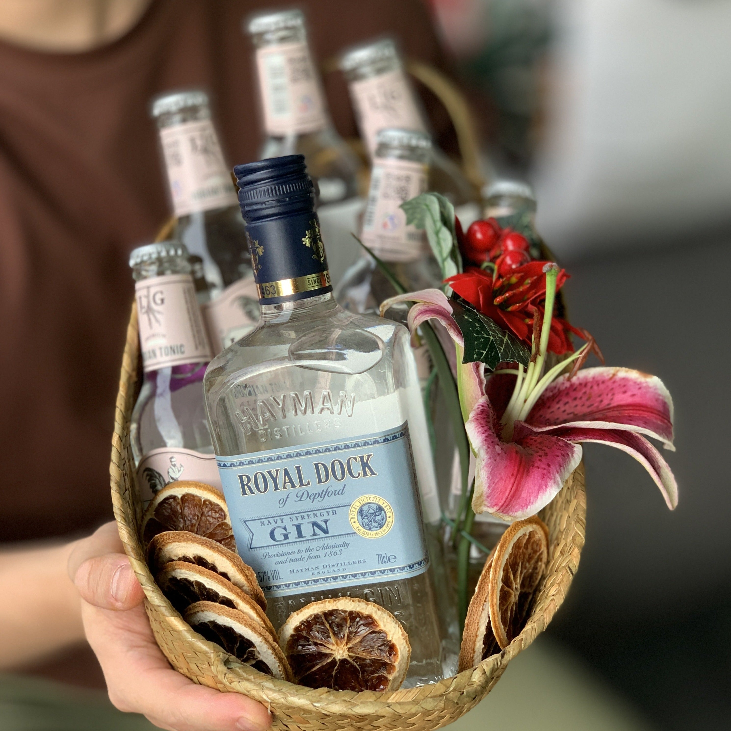 Hayman's Royal Dock Gin Tonic Christmas Hamper