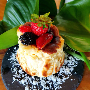 Gluten-free Burnt Cheese Cake (Coconut)
