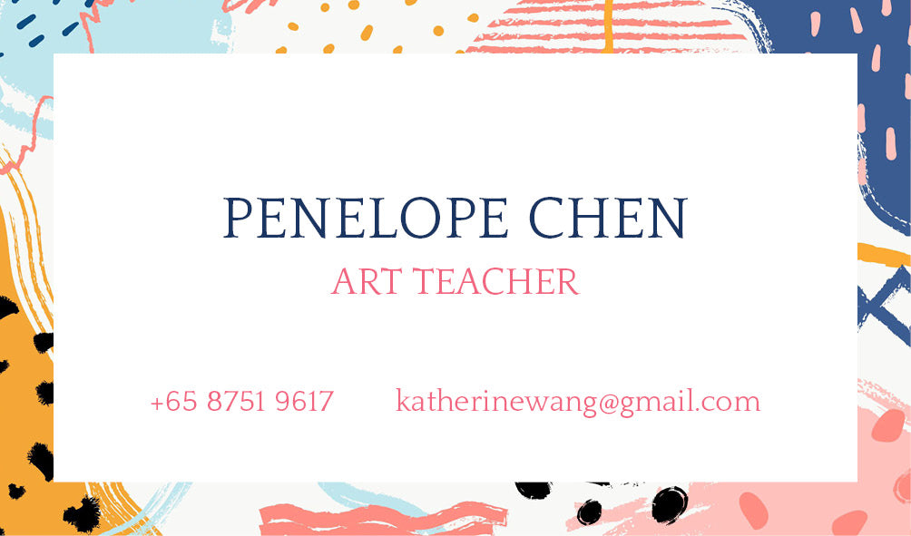 Modern Brush Strokes Personalized Cards