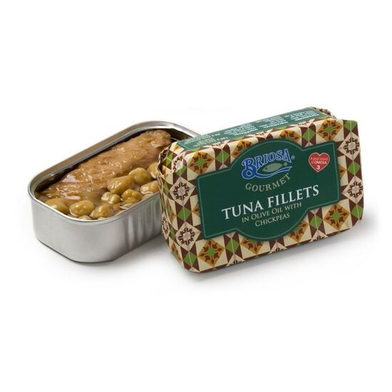 Briosa Gourmet Tuna Fillets in Olive Oil and Chickpeas