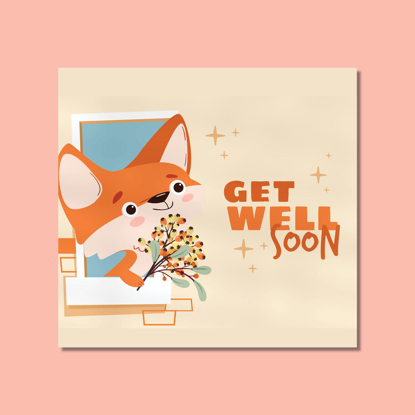 Get Well Soon - Cute Fox