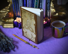Load image into Gallery viewer, Triquetra Grimoire Journal