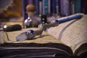 Blue Aura Crystal Writing Wand