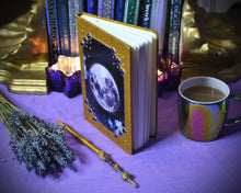 Load image into Gallery viewer, Full Moon Grimoire Journal Gold
