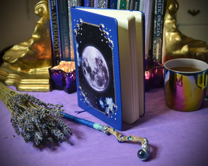 Full Moon Grimoire Journal Blue