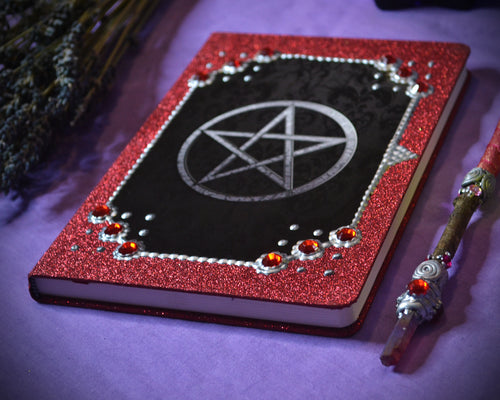 Pentacle Grimoire Journal Red