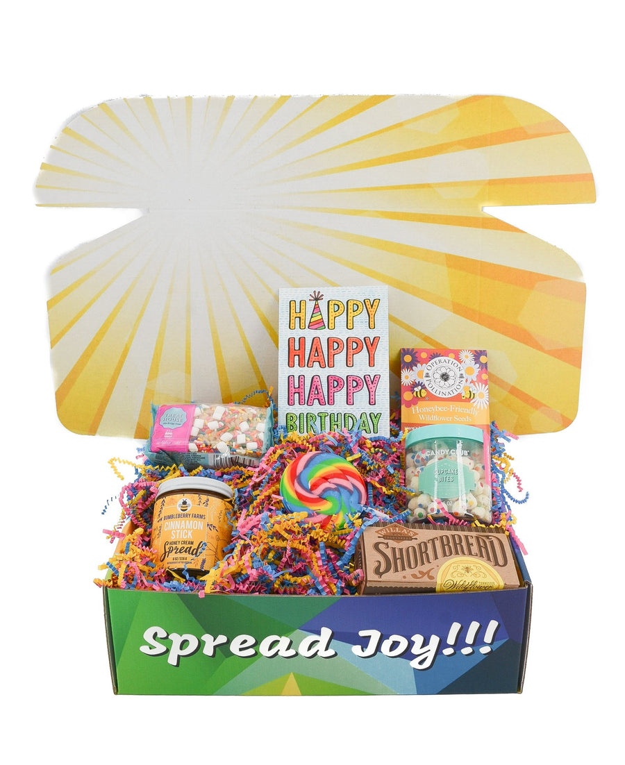 Birthday Care Package Great Gift Greeting Card FREE SHIPPING cookies sweets care package