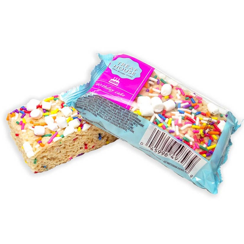This Birthday Cake Rice Krispie Treat is super cute and so tasty too! Great gift to help someone celebrate their birthday!