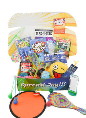 camping care package birthday gift boredom buster kids activities free greeting card free shipping
