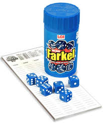 farkle game camp care package greeting card free shipping gift birthday