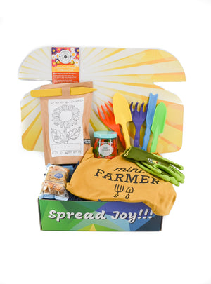 mini farmer care package kids gift outdoors birthday gift treats kids activities care packages greeting card