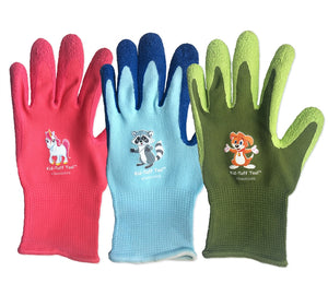 kids garden gloves gardening care package kids activities boredom buster greeting card