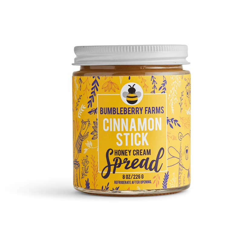 bumbleberry cinnamon stick honey cream spread great addition to our Birthday Care Package. This makes a great sweet gift for their birthday! Your choice of greeting card, your personal message and FREE SHIPPING to their door