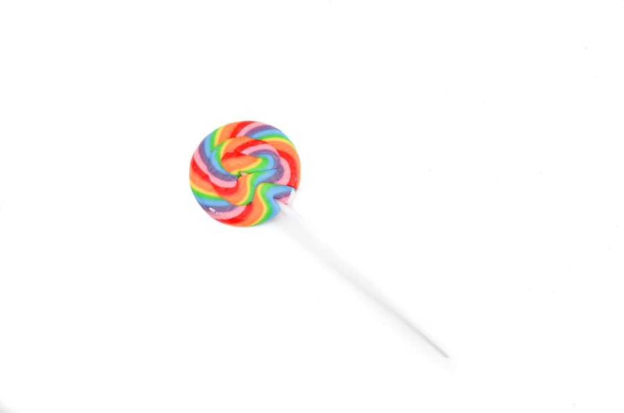 colorful rainbow lollipop sweet treat birthday care package birthday gift free shipping and free greeting card