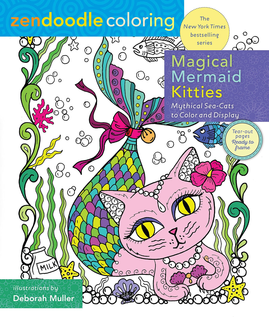 coloring book kids activities mermaid care package gift greeting card