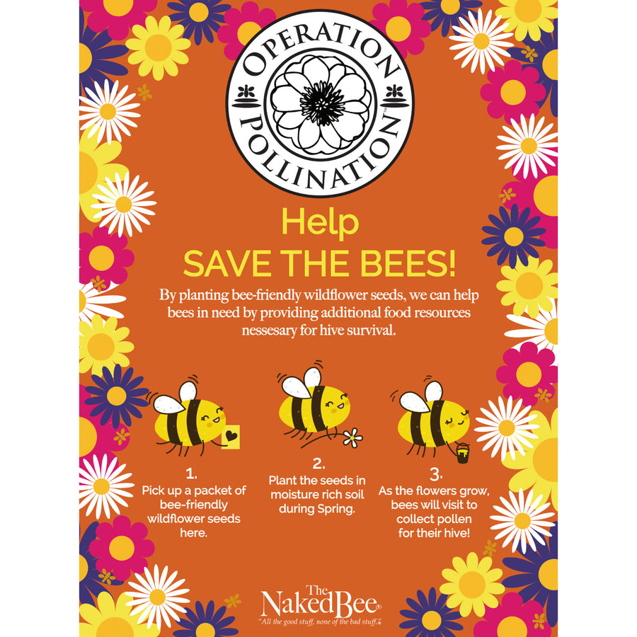 wildlower seeds honeybee environment care package birthday gift