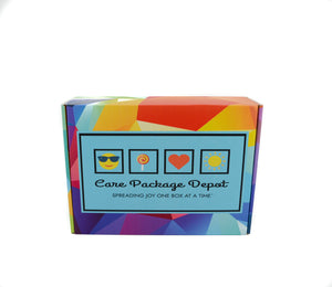 care package birthday gift colorful bright cheer
