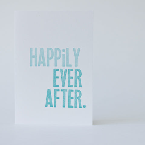 Type Card - Happily Ever After