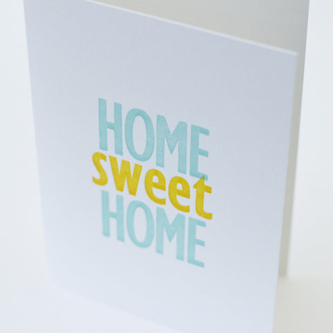 Type Card - Home Sweet Home