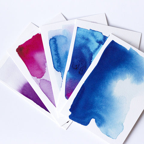 Watercolour Card - Mixed Pack of Five
