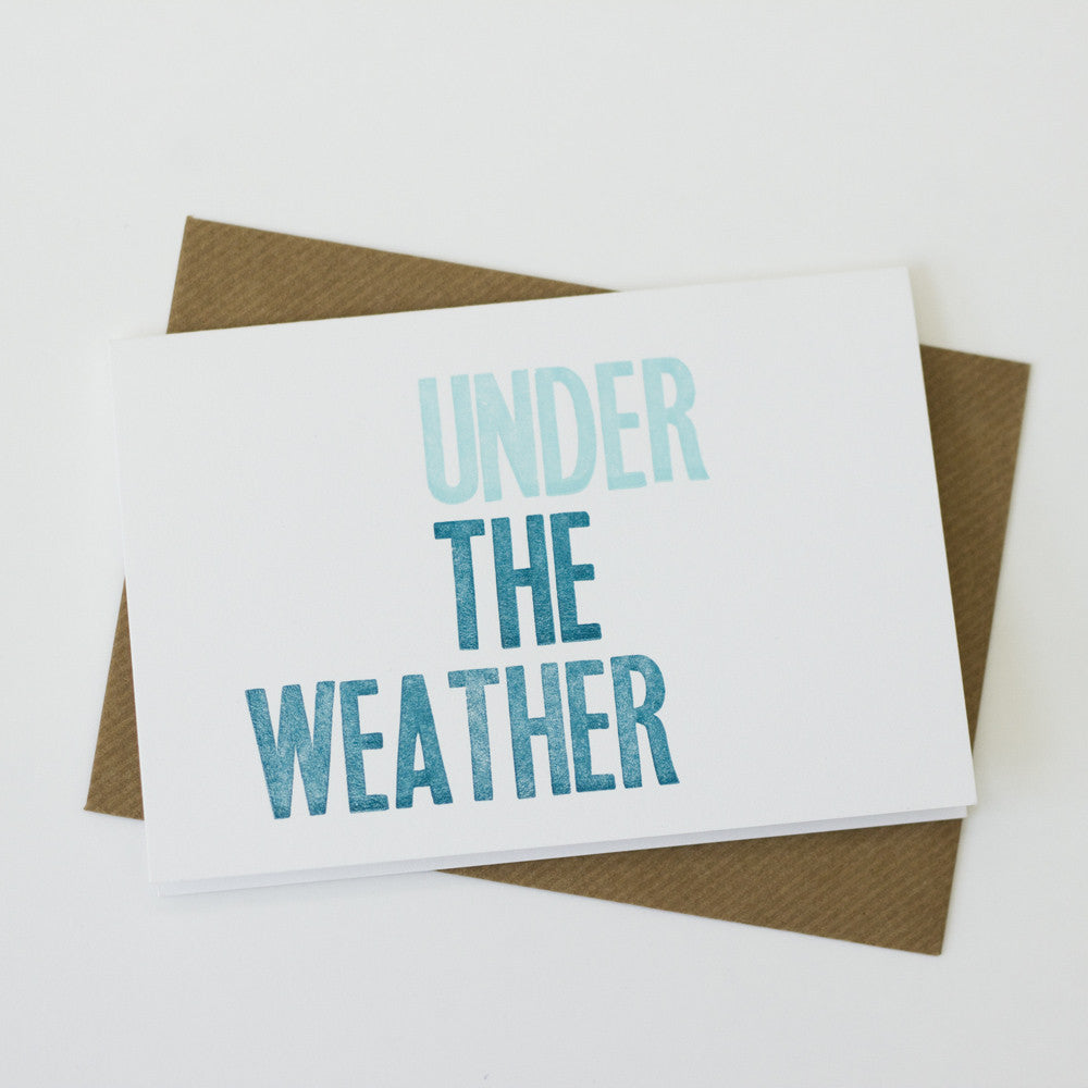 Type Card - Under The Weather Get Well Card