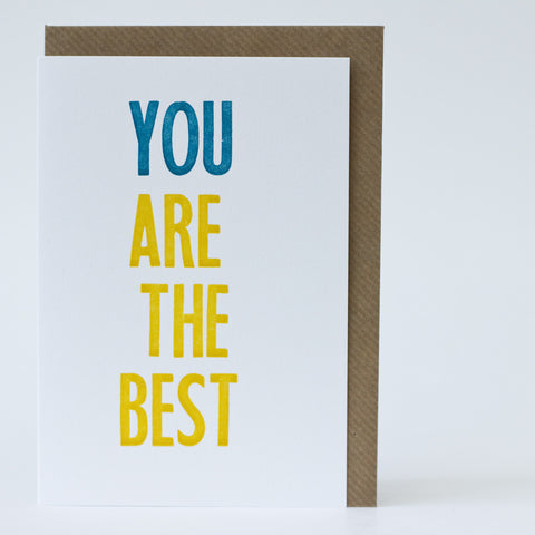 Type Card - You Are The Best