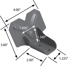 4500 Series Snow Guard Dimensions