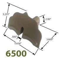 6500 Series Standing Seam Snow Guard Dimensions