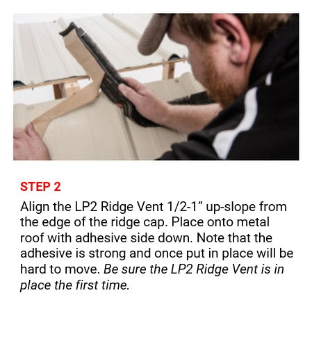 3' LP2 Ridge Vent Closure, Tuff-Rib