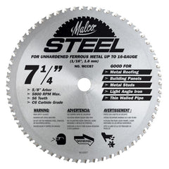 Larger View of Metal Cutting Blade