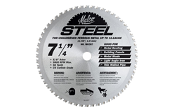7-1/4 Inch Circular Saw Blade - For Steel