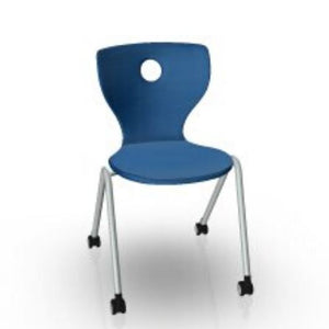 "Compass Lupo Chair on Castors Classroom Chairs VS America 13 ⅜"" Dark Blue"