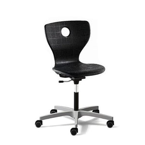 "PantoMove Lupo Height Adjustable Chair Classroom Chairs VS America Adjustable from 16 1/2"" – 21 1/2"" Black Grey Hard (Carpet)"
